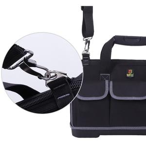 Image 3 - Вместительная сумка для инструментов, органайзер для инструментов, мужская дорожная сумка с ремнем через плечо, гаечный ключ, набор инструментов, плотницкая сумка рюкзак электрика