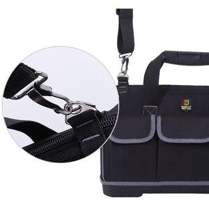 Image 3 - Grande capacité sac à outils matériel organisateur bandoulière ceinture hommes sacs de voyage clé à outils électricien charpentier sac à main sac à dos