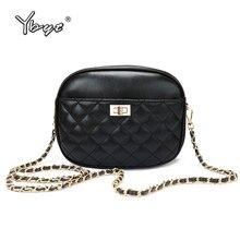 YBYT new casual messenget bags for women 2019 diamond lattice chain female shoulder crossbody bag retro small handbags