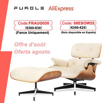 Furgle biały orzech skórzany fotel repliki fotel wypoczynkowy z orzechami osmańskimi szezlong klasyczny prawdziwy skórzany fotel wypoczynkowy fotel wypoczynkowy dla domu tanie i dobre opinie CN (pochodzenie) Nowoczesne meble do salonu Chair 34 3*34 3*33 5 inch(87*87*85 cm) Swivel Lounge Chair Europa i Ameryka