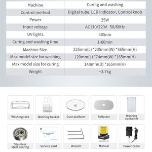 Image 5 - آلة غسيل وعلاج 2.0 من Anycubic مزودة براتينج 2 في 1 يعمل بالأشعة فوق البنفسجية لشاشات LCD/SLA طابعة ثلاثية الأبعاد أحادية X المريخ مجوهرات/طب الأسنان
