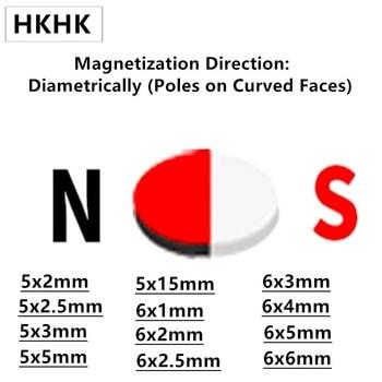 hall magnetic NdFeB Magnet 5x2 5x2.5 5x3 5x5 5x15 6x1 6x2 6x2.5 6x3 6x4 6x5 6x6 mm Diametrically Magnetized N45H