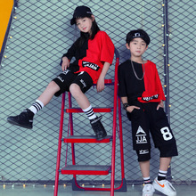 Trẻ Em Phòng Khiêu Vũ Nhảy Dance Cho Bé Gái Bé Trai Hiệu Suất Thể Hiện Ngắn Áo Quần Jogger Jazz Kid Hip Hop Nhảy Múa Trang Phục