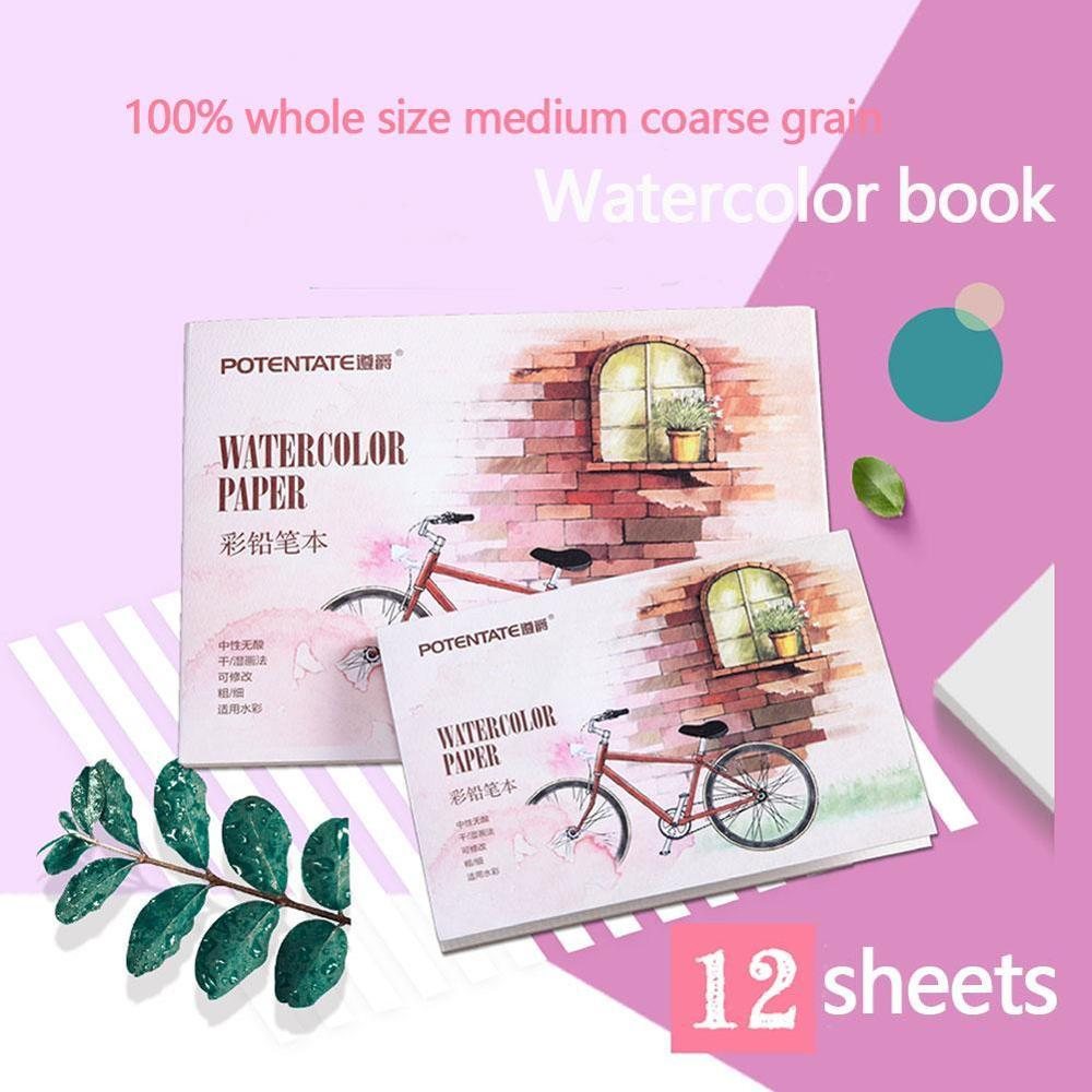 12 Sheets Watercolor Paper A5 A6 Sketch Book Set Watercolor Drawing Painting Pad Colored Pencil Book  Student Art Supplies
