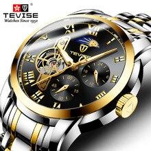Tevise Top Brand Men's Tourbillon Automatic Mechanical Watches