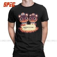 T-shirt manches courtes col rond pour homme, en coton, Vintage, avec image d'un Animal Crossing