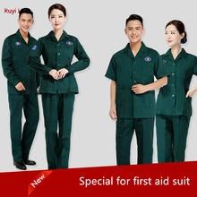 120 emergency center work clothes summer long short sleeve split body suit doctors and nurses female community health