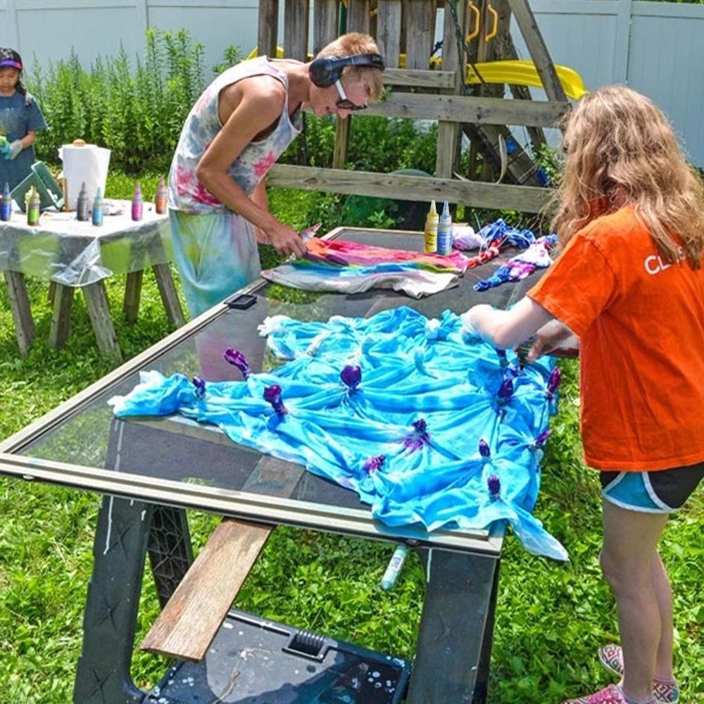 5 Bottles Tulip One Step Tie Dye Kit Vibrant Fabric Textile Permanent Paint Color DIY Kits For Fabric Textile Craft Arts Clothes