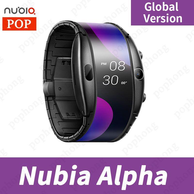 Globalna wersja ZTE Nubia alpha 4.01 cala smartband OLED składany elastyczny wyświetlacz Snapdragon 8909W połączenia Bluetooth Inteligentne zegarki    - AliExpress