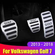 Автомобильный акселератор из алюминиевого сплава, педаль газа, тормоза, педали сцепления, крышка MT/AT для Volkswagen VW Golf 7 Mk7 2013