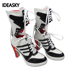 cosplay adults accessories boots boot joker quinn and suicide squad harley shoes costume costumes for women halloween