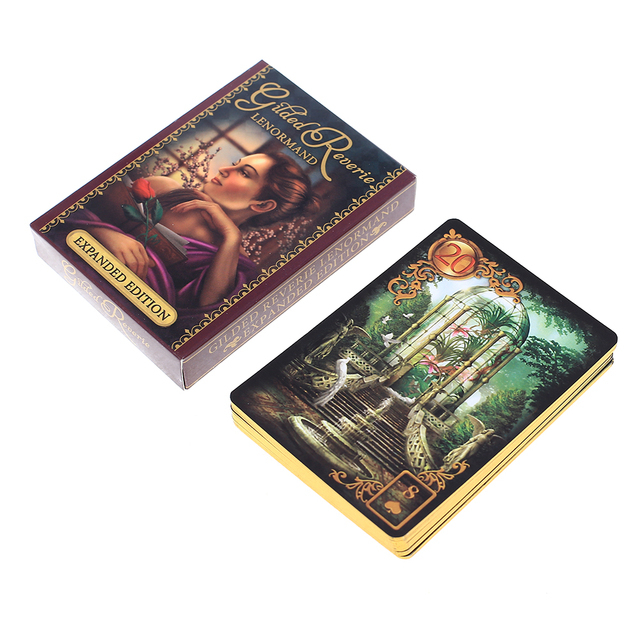 47 Pcs Oracle Tarot Cards Glided Reverie Lenormand expanded edition Board Deck Games Palying Cards For Party Game 4