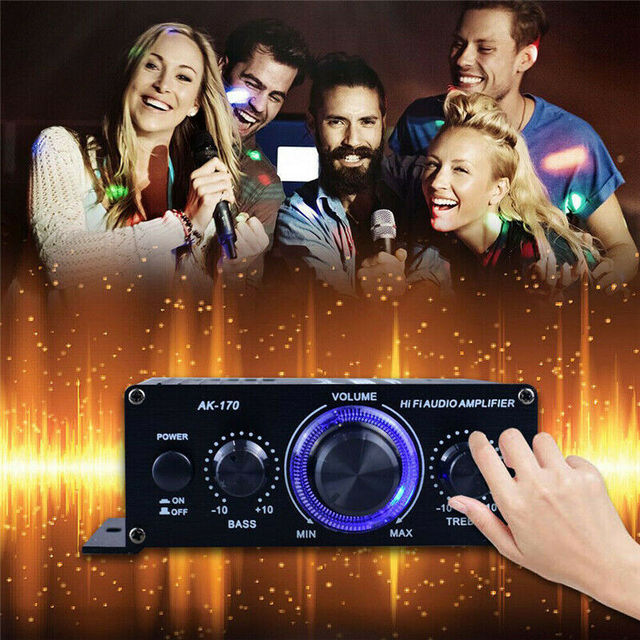 LED AMP Amplificador Home Theater USB TF Card Player 4