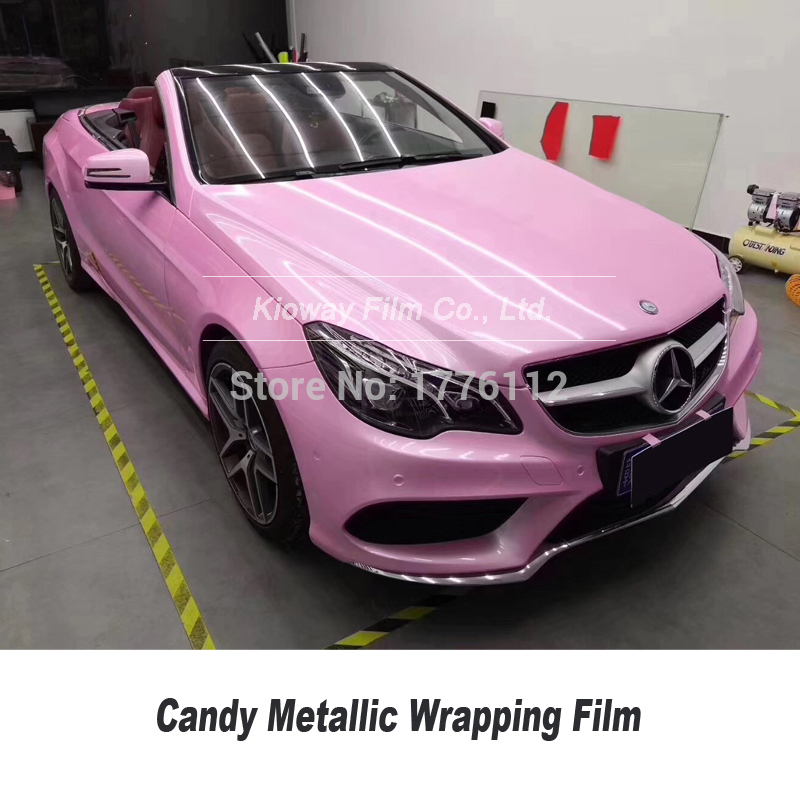 *Premium Gloss Glossy Pink Car Vinyl Wrap Sticker Decal Air Release Bubble Free