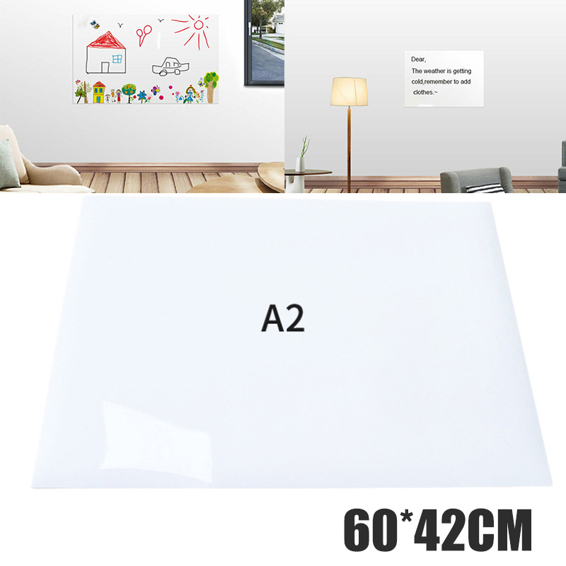 Self-adhesive A2 Size Small Whiteboard Sticker 60*42cm Dry-erase Rewritable Board Kids Painting Home Office Supply