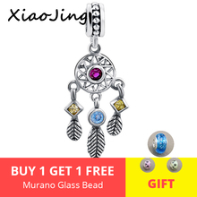 Hot sale 100% 925 Sterling Silver Dreamcatcher Charm Beads Fit Pandora Bracelet Fine Jewelry for Women gift free shipping