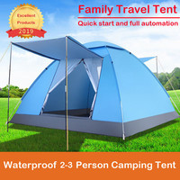 Automatic Waterproof 2 3 Person Camping Tent, Quick Set Up, Outdoor Hiking Backpacking Tent Shelter Tourist tent rainproof