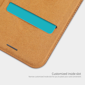Image 5 - Caes für iPhone X Xs Max 7 8 Plus 12 Mini 11 Pro Max Nillkin Qin Serie PU Leder Flip abdeckung Für iPhone 11 Fall