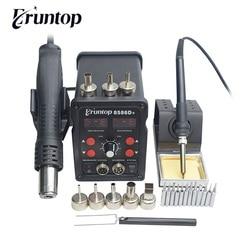 Eruntop 8586D 8 586 Digital Display 2in1 Electric Soldering Irons Hot Air Gun Better SMD Rework Station Upgraded 8586 8586D