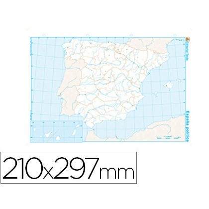 MAP MUTE B/N DIN A4 SPAIN-POLITICO 100 Units