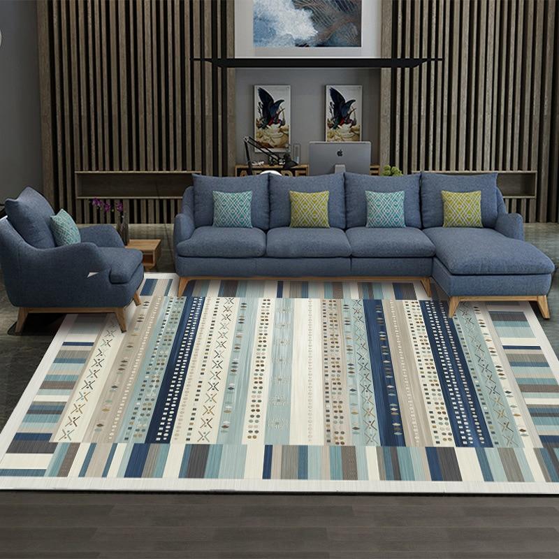 Tendance créative moderne tapis doux pour salon chambre tapis rayure Style tapis maison tapis plancher porte tapis tapete parlor