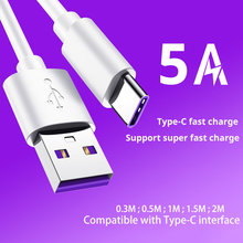 Baixin Type C Cables Quick Charging Fast for Huawei P30 P20 Mate 20 Pro Nova 5 5A Supercharge Fast Charging USB C Charger Cable