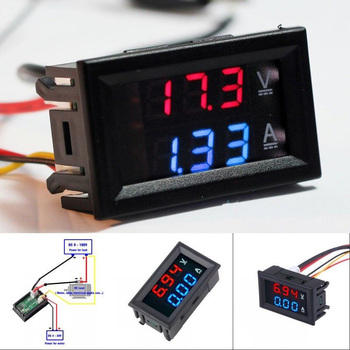 Digital Voltmeter DC 100V 10A Digital Voltage Panel Meter Red/Blue/Green For 6V 12V Smart Home Electromobile Motorcycle Car image
