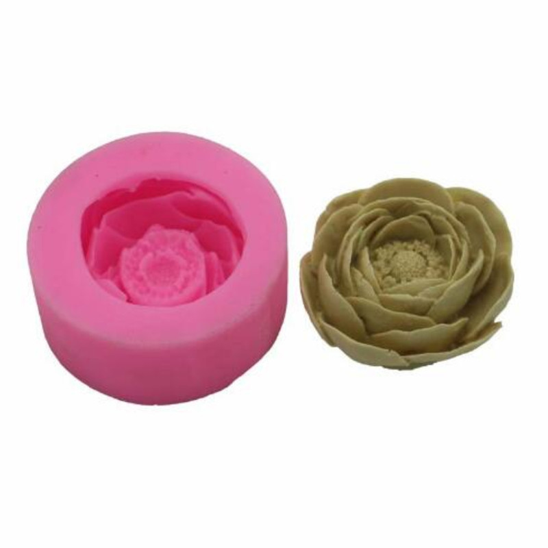 Flower Candle Plaster Silicone Mold DIY Cake Decorating Tools Handmade Soap Silicone Mold Kitchen Accessories Candle Crafts
