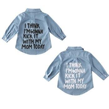 Nuevo niño niños bebé niña ropa de invierno Denim Tops camiseta abrigo camisa