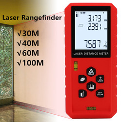 30M 40M 60M 100M Laser distance meter Laser rangefinder tape laser range finder build measure device ruler High Precision 40%off