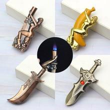 Torch Jet Lighter Metal Creative Butane Gas Lighter Gadgets