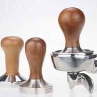 51mm/58mm ferramenta de distribuição imprensa tamper café punho madeira barista espresso maker moedor martelo acessórios café do navio da gota|Compactadores de café| |  -