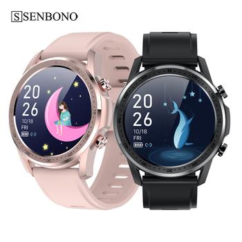 SENBONO 2021 inteligentny zegarek kobiety sport BT termometr Fitnees Tracker zegar Y2 wodoodporny mężczyźni Smartwatch dla IOS Andriord tanie i dobre opinie CN (pochodzenie) Brak Na nadgarstek Zgodna ze wszystkimi 128 MB Krokomierz Rejestrator aktywności fizycznej Rejestrator snu