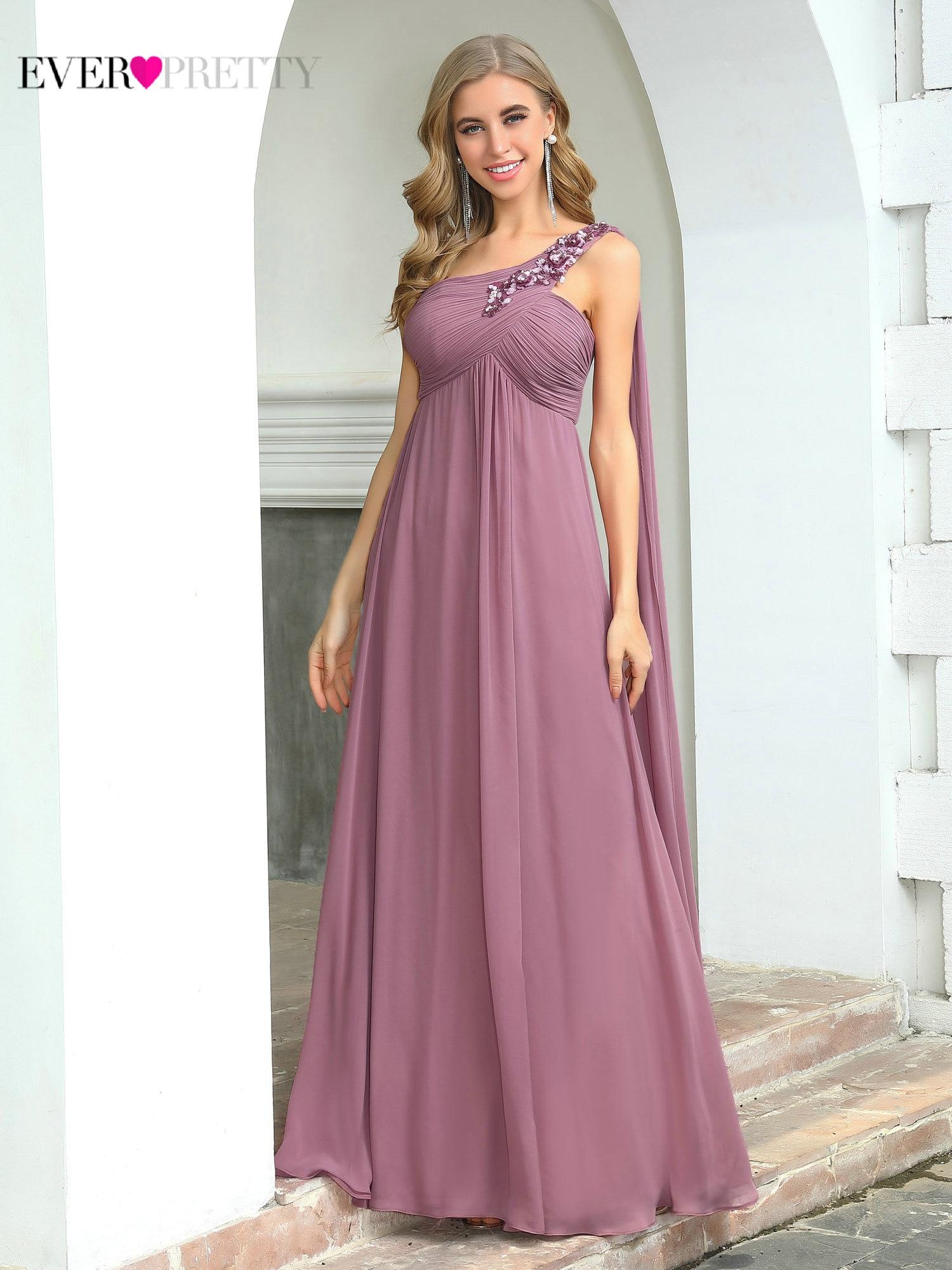 Bridesmaid-Dresses Party-Dress Ever Pretty Dusty Pink Weddings Elegant Women Chiffon