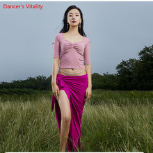New Autumn Design Warm Bellydancing Costume Adults Team Dance Oriental Dance Show Wear Wrap Top Long Skirt Free Delivery