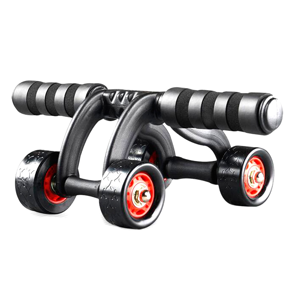 Abdominal Wheel Ab Roller with Four Wheels Abdomen Trainer Rolling Wheel Sports Exercise Fitness Equipment for Men and Women image