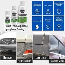 Hgkj revestimento de guarnição de plástico de longa duração hidrofóbico carro exterior restorer plástico kit de revestimento de guarnição cerâmica