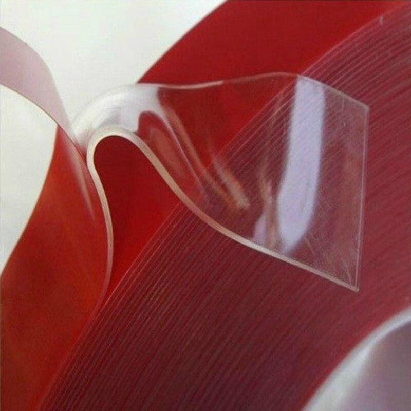 Двухсторонняя многофункциональная прочная клейкая лента 3 м, прозрачная акриловая пенопластовая лента, водонепроницаемая бесшовная Двуст...