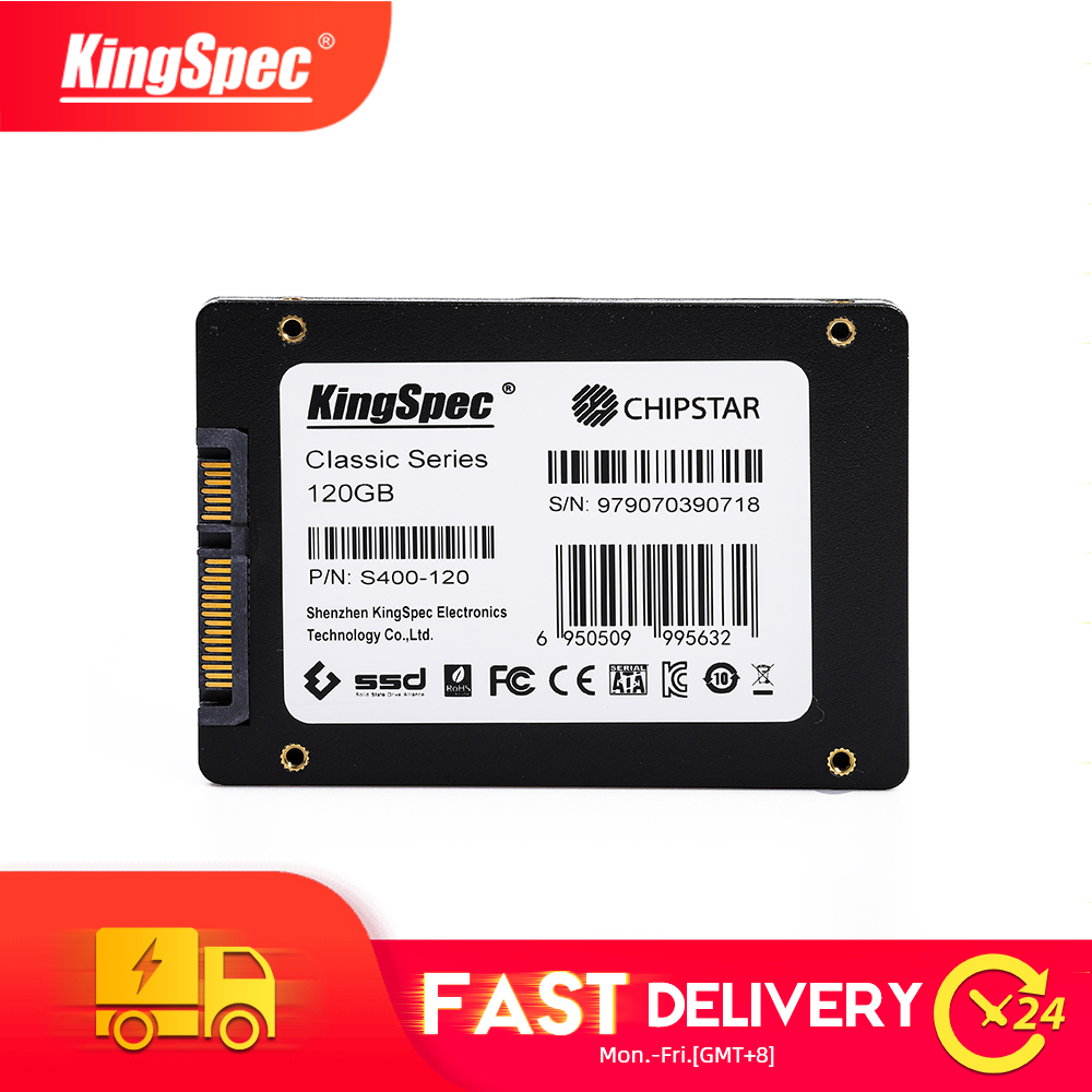 <font><b>SSD</b></font> <font><b>120GB</b></font> 240GB 480GB <font><b>KingSpec</b></font> 960GB 2.5 SATA3 Solid State Drive hard disk hdd S400 Series interno drive for desktop notebook pc image