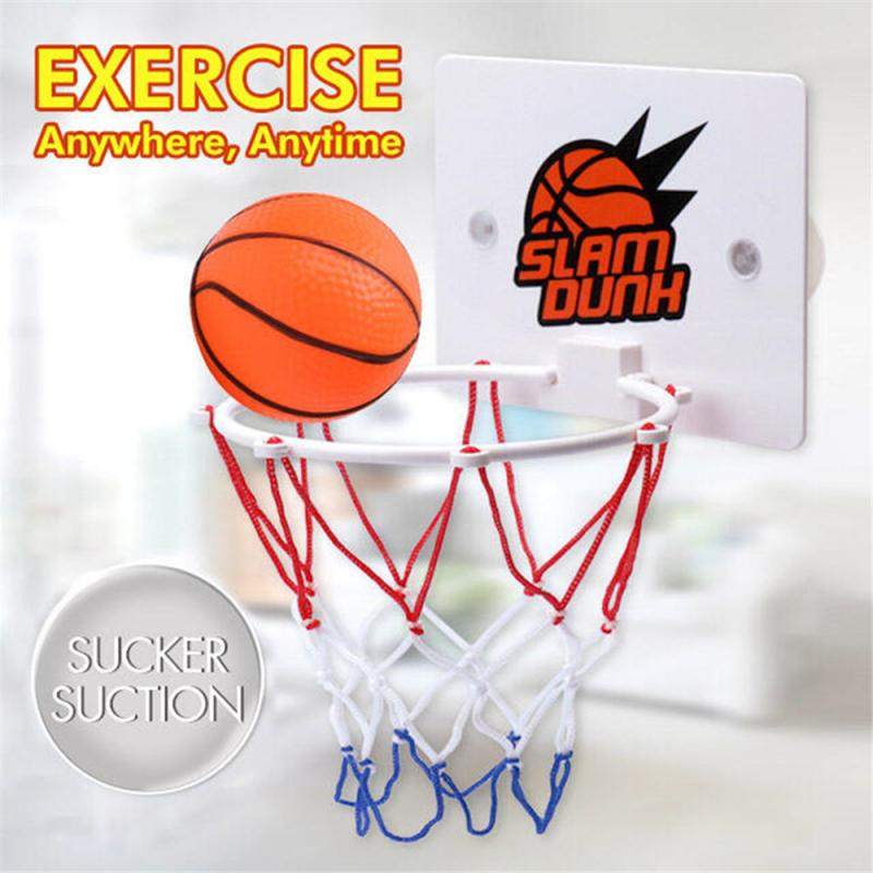 Children's Mini Basketball Hoop Toy  Indoor Outdoor Sport Wall Hanging Basketball Ring Newly Suck Wall-mounted Stand With Pump