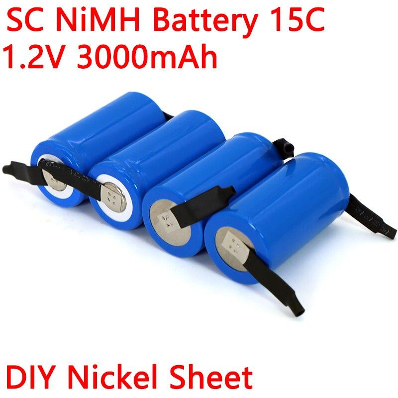 Batteria ricaricabile Ni-MH 1.2v SC 3000mAh 21410 per aspirapolvere spazzatrice Drone trapano elettrico batteria foglio di nichel fai da te