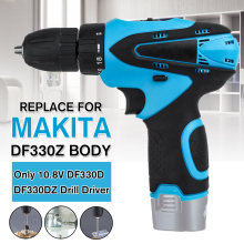 Cordless Drill Electric Screwdriver 10.8V 24N.m Li-ion Power Drill Replaced for Makita 10.8V DF330D DF330DZ Battery