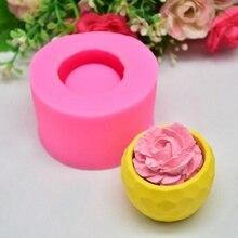 цена на DIY Handmade Baking Cake Mold Silicone New Fleshy Flower Pot Shape Fondant Mold Baking Tool