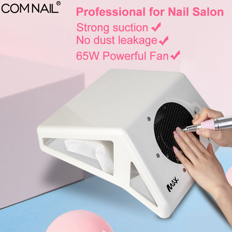 65W MAX Nail Vacuum Cleaner Strong Adjustable Speed Collector For Nail Dust Fan Vacuum Cleaner For Manicure Tool Vacuum Cleaner