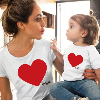 Love Family Clothes Mother Daughter T Shirt Girls Blouse matching outfits T shirt mom Kids lovely Blouse kids baby girl T shirt t shirt girl t shirt girl korean t shirt girl sports t shirt summer new t shirt ladies t shirt mom daughter parent child t shirt