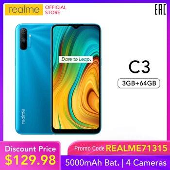 realme C3 Global Version 3GB RAM 64GB ROM Pro Mobile Phone MTK Helio G70 CPU 12MP Camera 6.5
