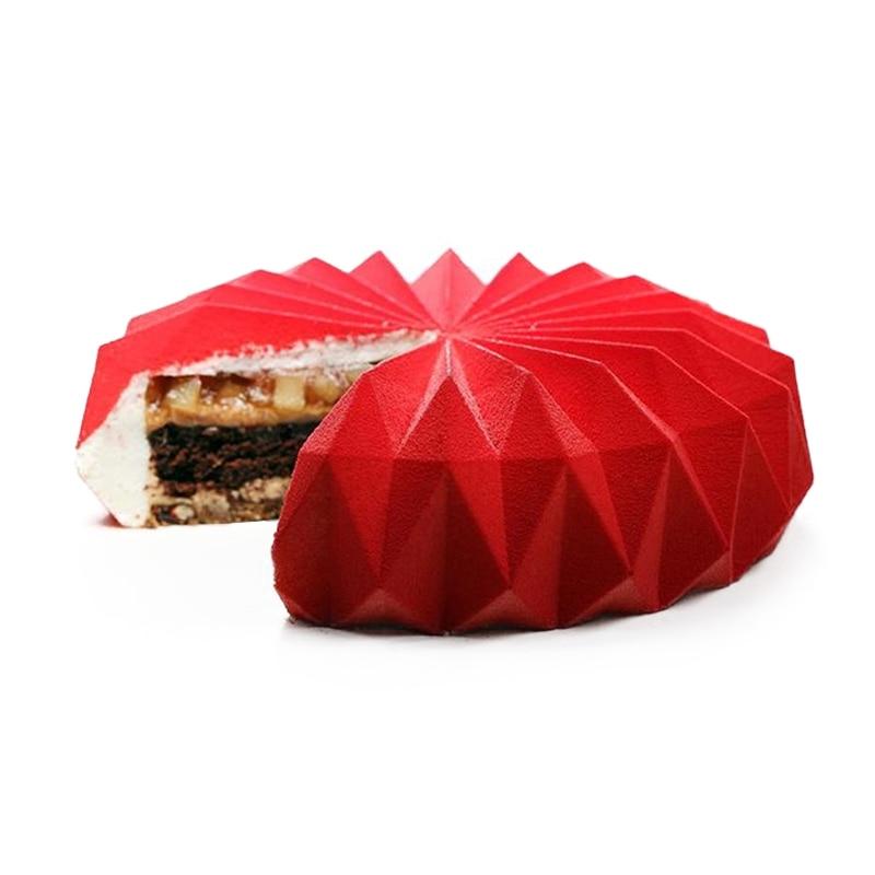 Ромбовидной формы силиконовые формы для выпечки тортов и пирожных для мусс десерт шоколад желе пудинг кондитерского Формы инструмент для у...