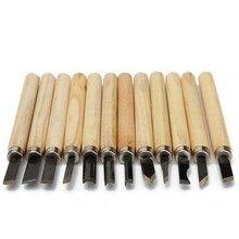 12 sztuk profesjonalna rzeźba w drewnie dłuta nóż zestaw narzędzi ręcznych dla podstawowe szczegółowe rzeźba stolarzy Gouges DIY obróbki drewna Bit