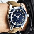 Corgeut Luxus Marke Military 007 Uhr Männer Automatische Sport Design Uhr Leder Mechanische Armbanduhr 41MM