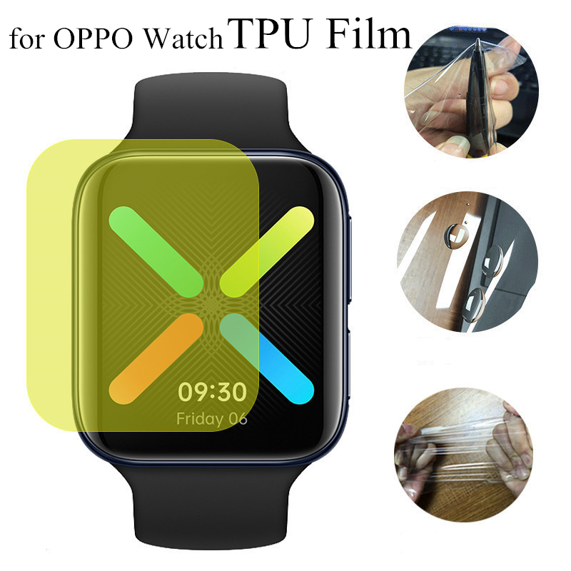 New 2pcs TPU Protective Film For OPPO Watch Full Cover Screen Protectors Soft TPU Hydrogel Film For OPPO Watch 41mm 46mm